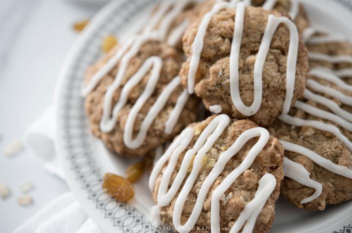 Applesauce Oatmeal Cookies on Plate