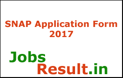 SNAP Application Form 2017