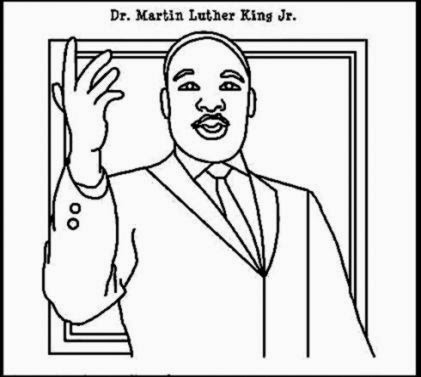 Martin Luther King Coloring Page and Peace Song  Kiboomu Kids Songs
