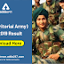 TA (Territorial Army) PIB 2019 Result: Download here