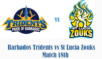 Prediction Barbados vs St Lucia Zouks, 18th Match
