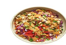 دجاج تايلاندي حار مع صوص الفول السودانى Spicy Thai Chicken