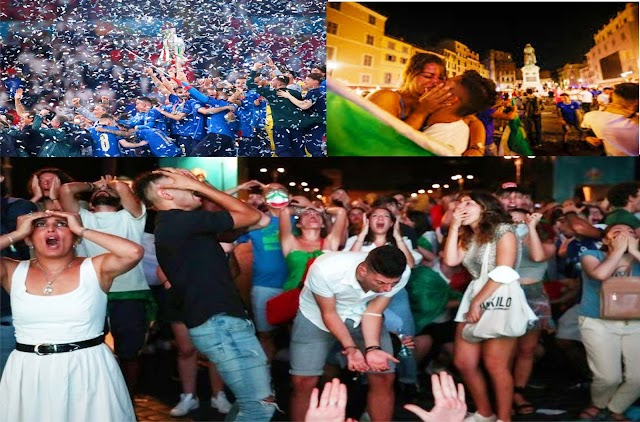 Italy Players Celebrated The Euro 2020 Win With Fans