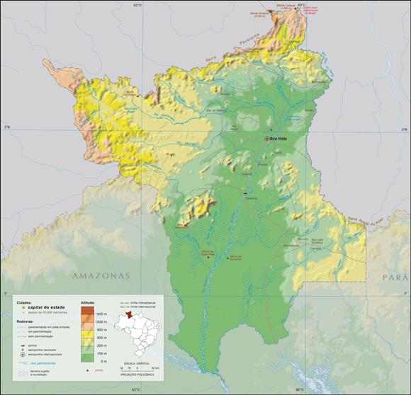 Mapa Roraima - clima