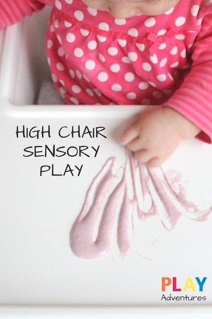 High chair taste safe sensory play