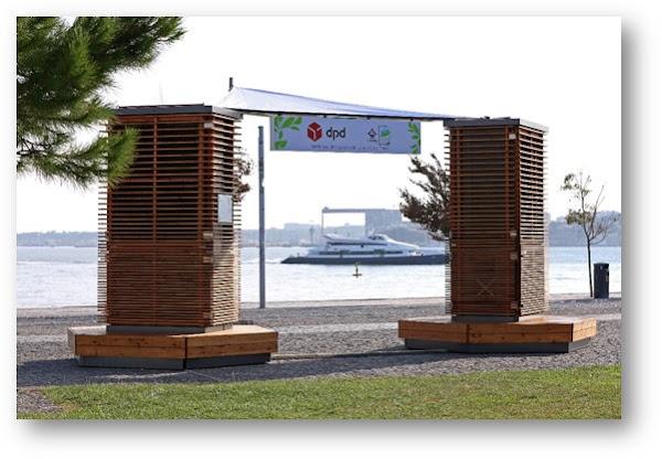 City Trees da DPD já geraram mais de 2.5 toneladas de m3 de oxigénio em 2 meses