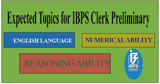 Expected Pattern for IBPS Clerk Preliminary Exam