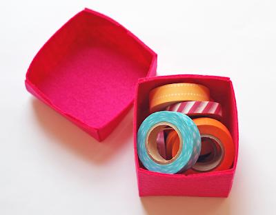 box of tape - Caixinha de feltro