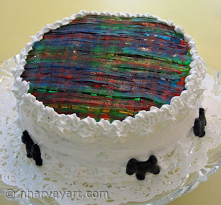 Carnegie Mellon Tartan Cake