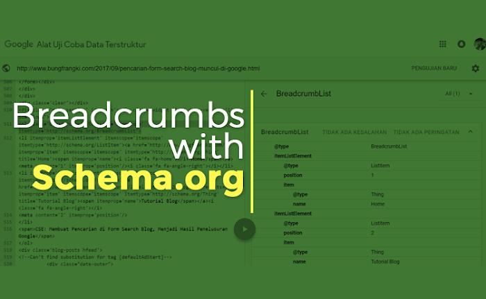 Como instalar Breadcrumbs Microdata Dengan com Schema.org no Blogger