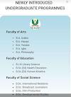 Newly Introduce Undergraduate Programmes