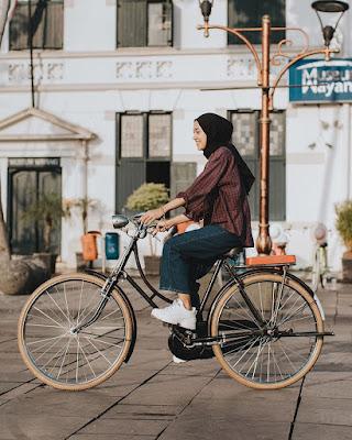 Bersepeda yang menyenangkan
