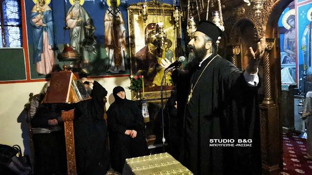 Ομιλία του Αρχιμανδρίτη Ιάκωβου Κανάκη στην Ιερά Μονή Αγίας Μαρίνας στο Άργος (βίντεο)