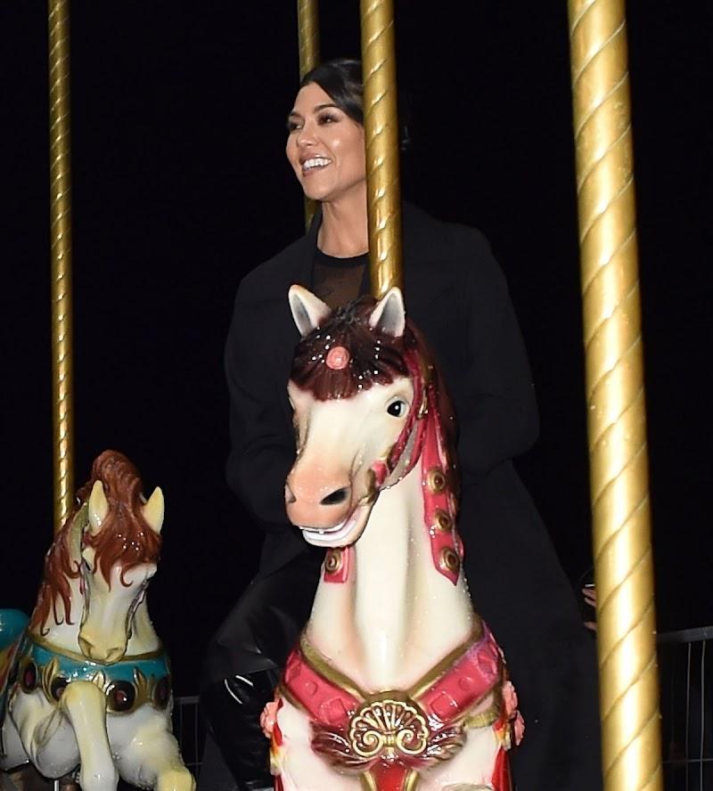Kourtney Kardashian Riding on a Carousel in Paris 2 Mar -2020