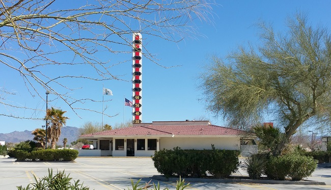 World's Largest Thermometer in Baker, California