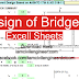 Design of Bridges Excel Sheets Free Download