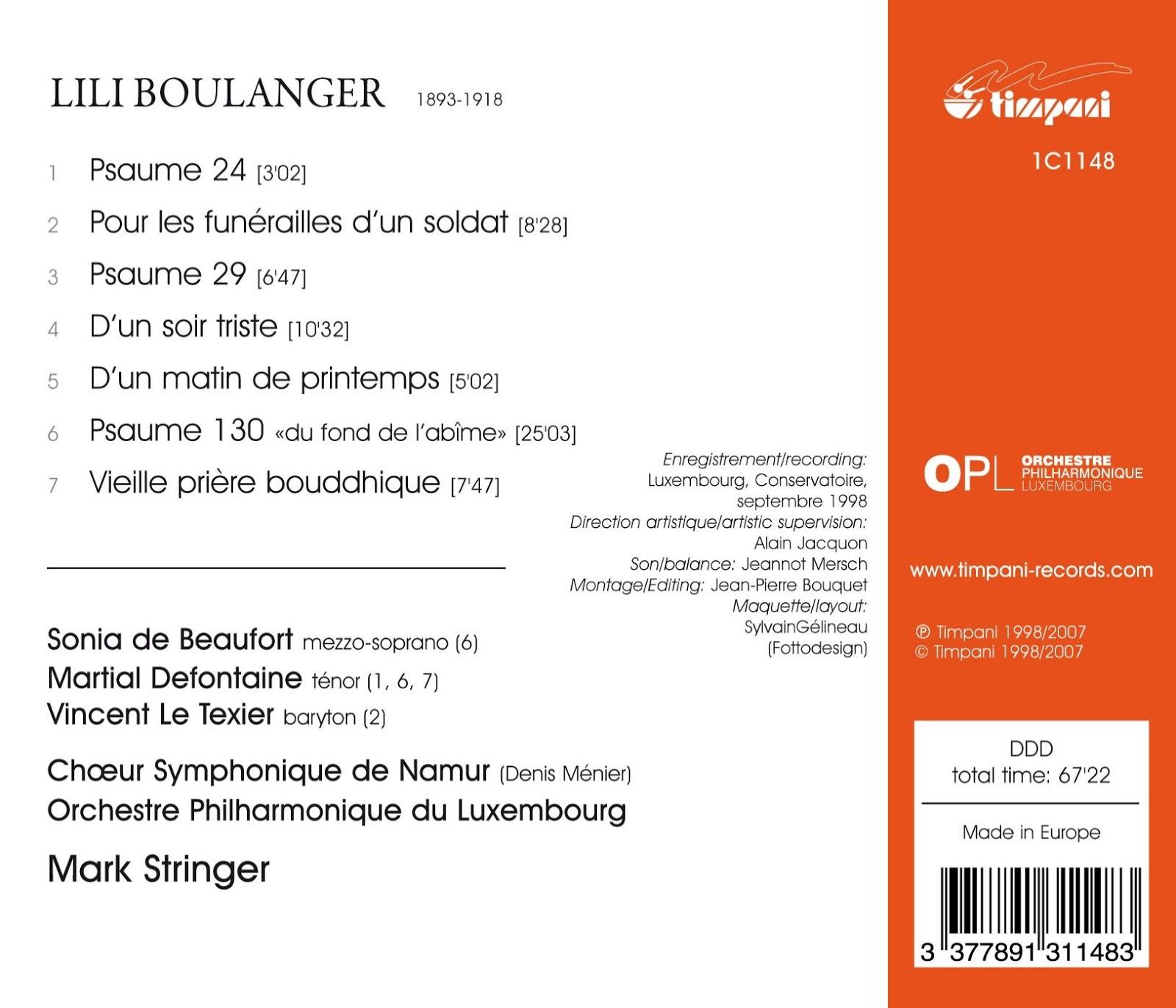 Magical Journey: Lili Boulanger - Psaumes 24, 129 & 130
