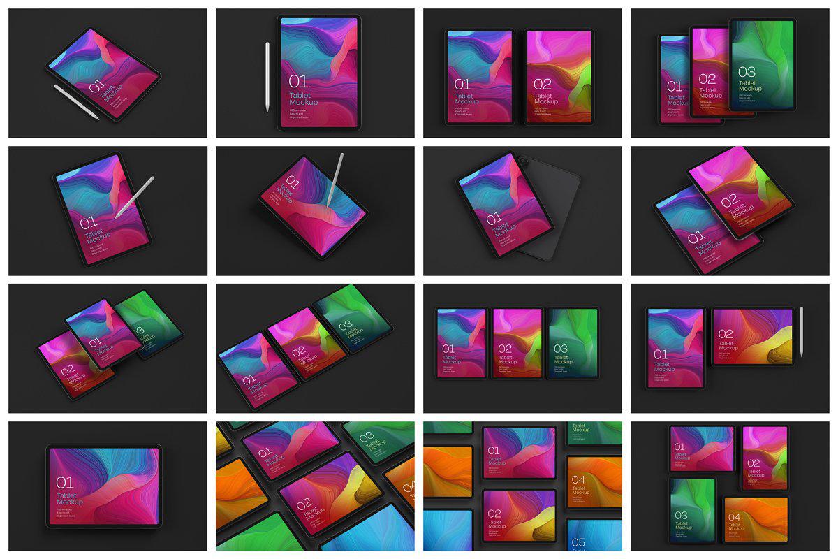 iPad Pro Mockup Set Tablet Screen 5241075.