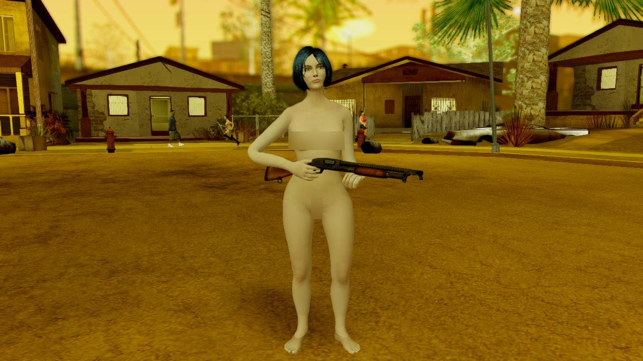 Are absolutely naked girls in gta sanandreas