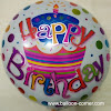 Balon Foil Bulat Motif HAPPY BIRTHDAY / Balon Foil Bulat HBD (06)