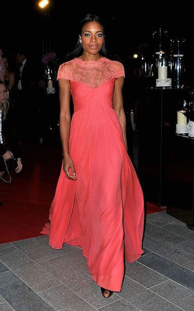 Naomie Harris in Monique Lhuillier – Oxfam Charity Gala