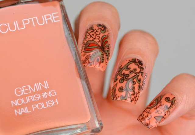 floral water decal nail art