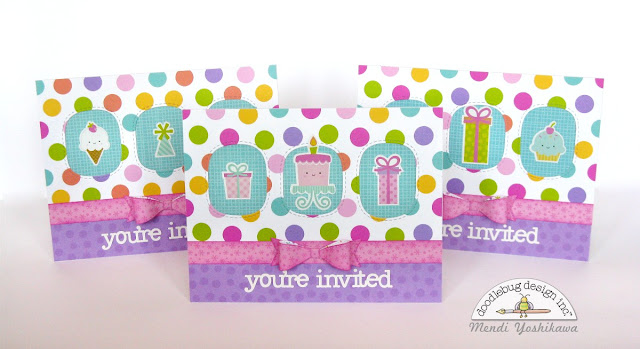 Doodlebug Design Fairy Tales Birthday Party Invitations for Girls by Mendi Yoshikawa
