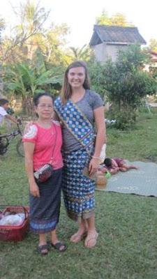 Student and homestay mother