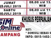 Jadwal SIM Keliling Sukabumi 19-20 Juli 2019