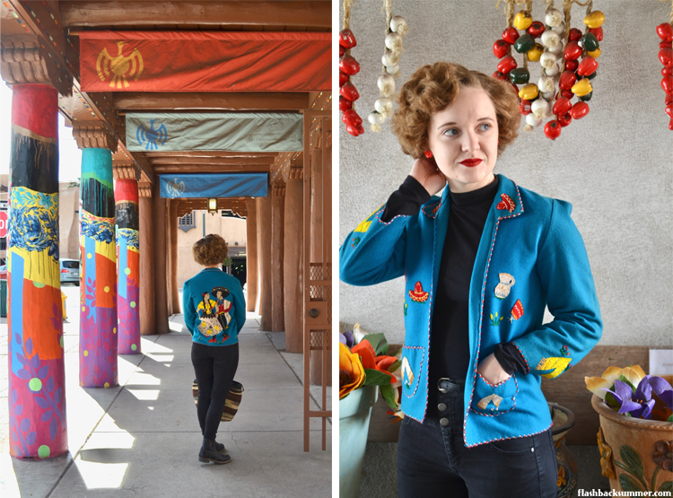 Flashback Summer: Mexican Tourist jacket vintage southwest fashion santa Fe