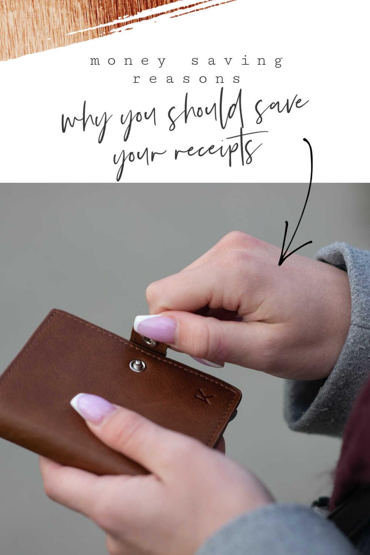 money saving receipts