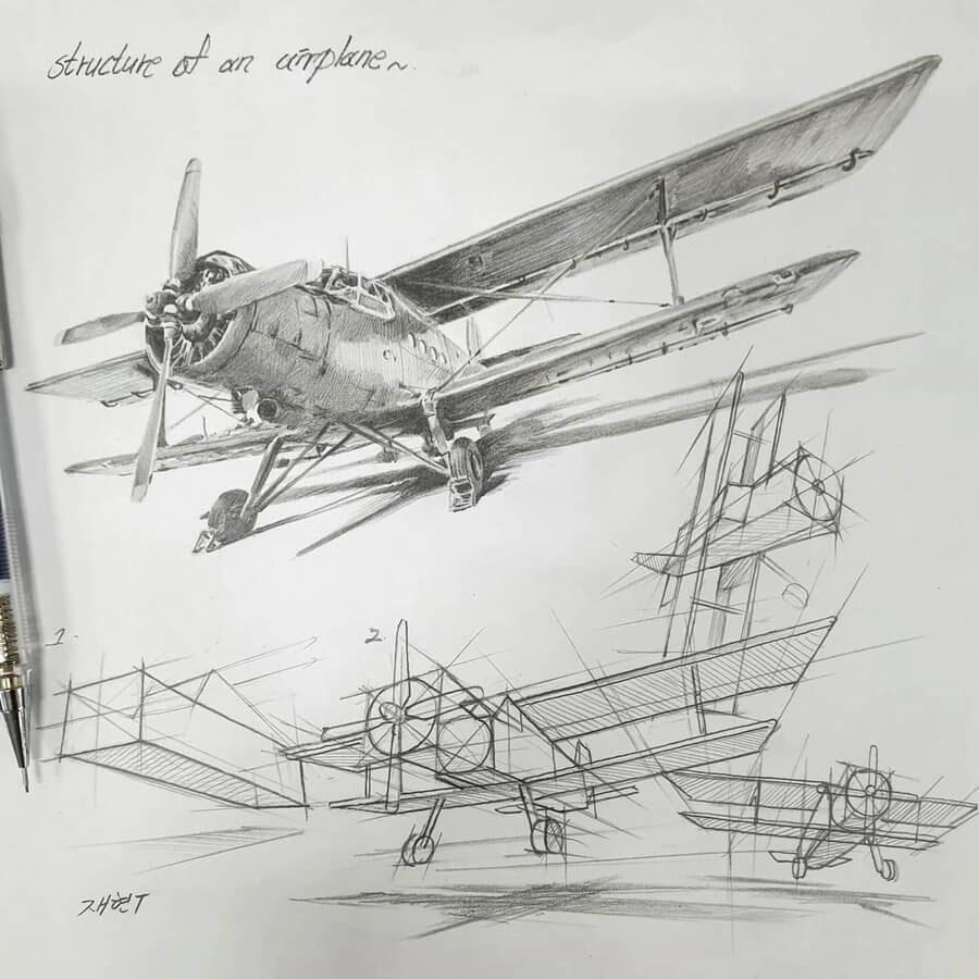02-Biplane-in-flight-Anjjaemi-www-designstack-co