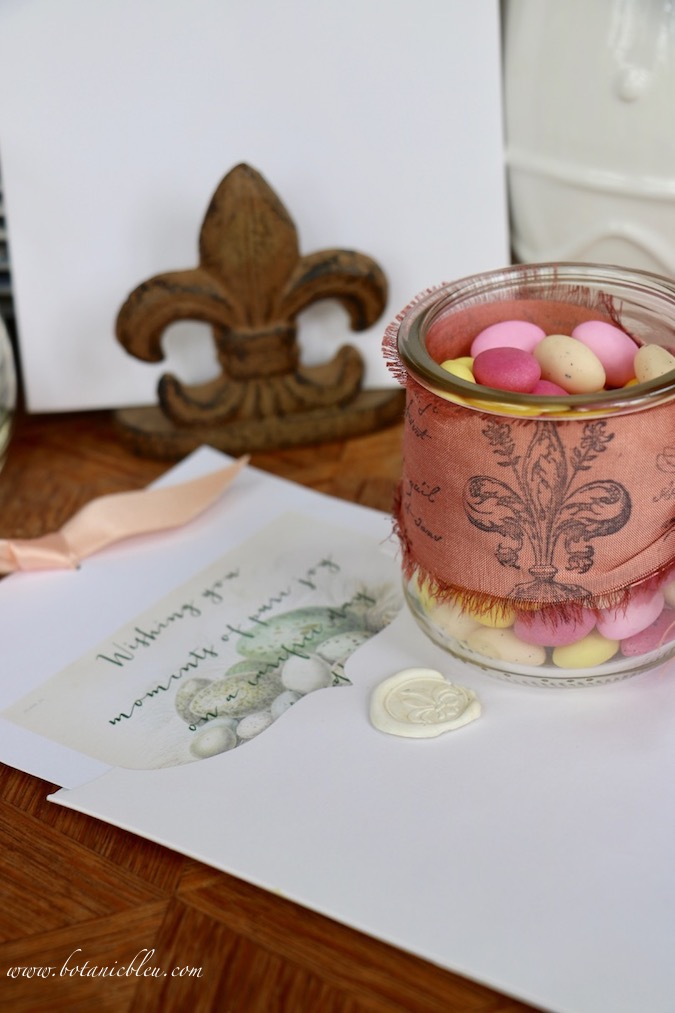 Handmade Easter Cards decorate French Country style Easter tables