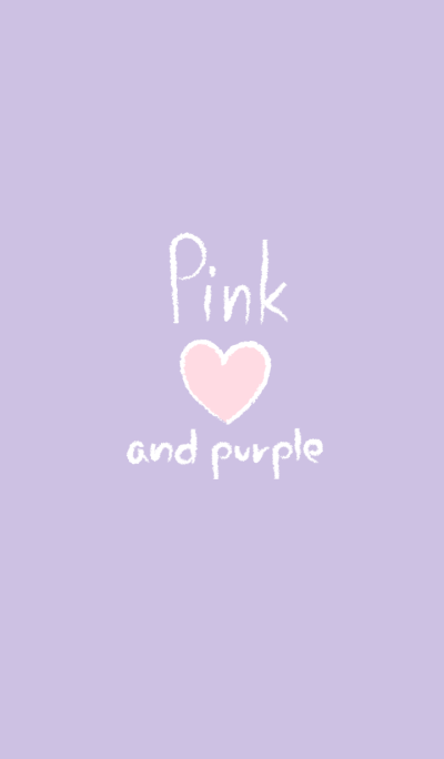 Pink heart and Purple