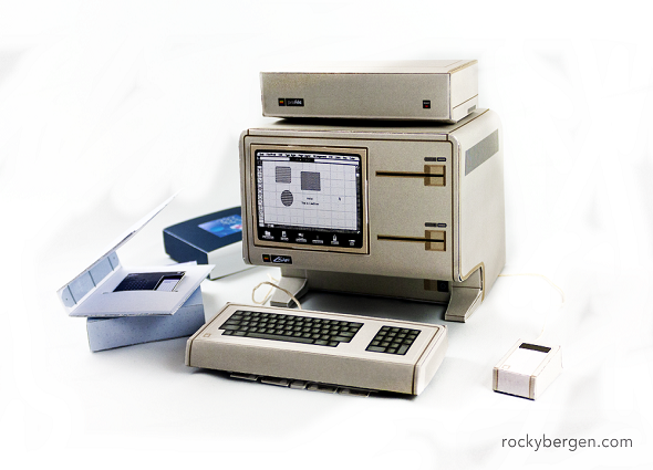 juguetes papel, manualidades de papel, computadoras retro