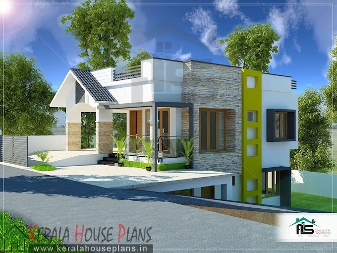 House Design for Plot below road level