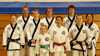 Students from the taekwondo school at the Colorado Taekwondo Institute