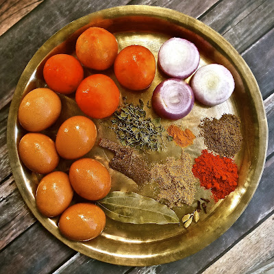 Punjabi Dhaba Style Egg Curry anda, tomato, curry, boiled, non veg, easy, recipe, indian, curry, spicy, simple