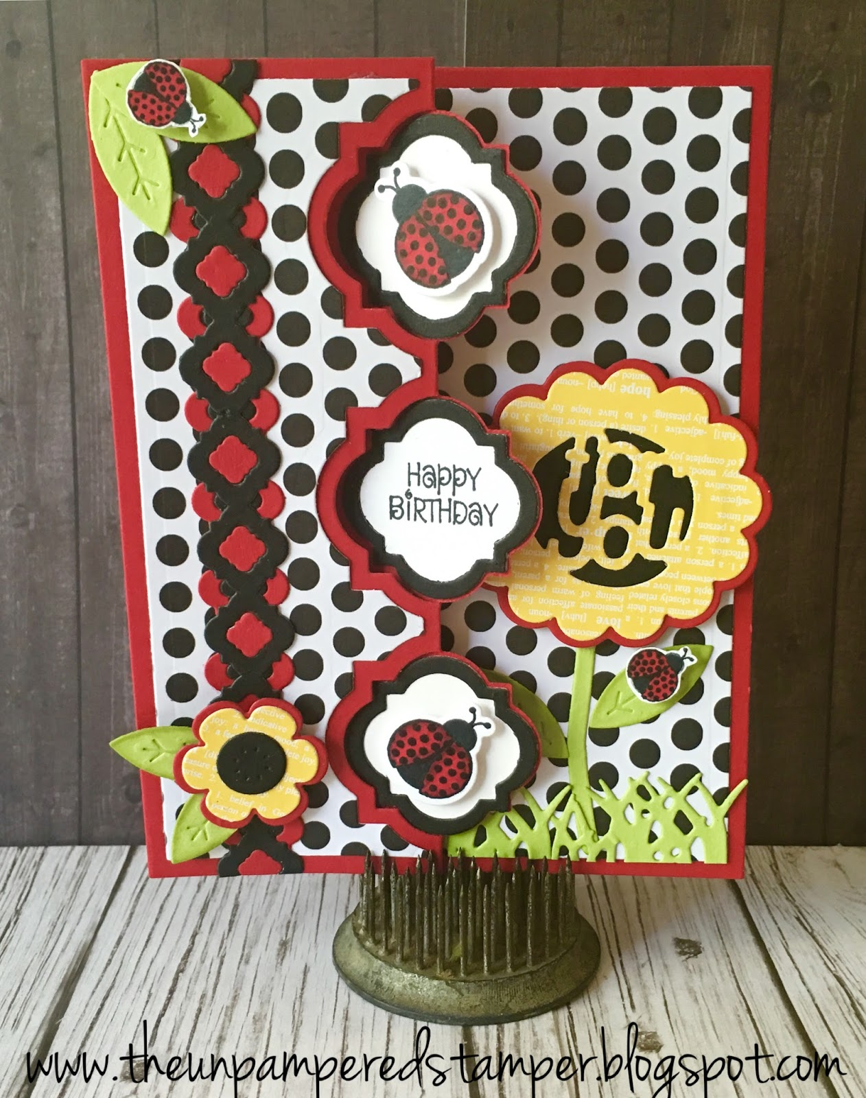 The Unpampered Stamper Ladybug Birthday Card – Ladybug Birthday Cards