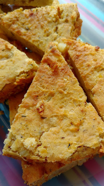 Cheese and lentil wedges