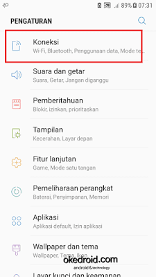 Pengaturan Settings > Connections koneksi samsung galaxy j5 2016 android nougat