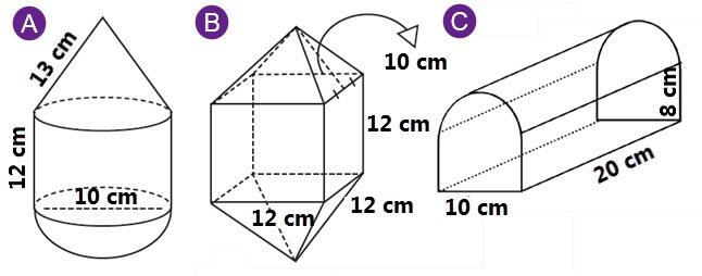 Volume bangun ruang adalah hasil kali dari luas alas dengan tinggi bangun ruang tersebut Volume Gabungan Bangun Ruang Kelas VI SD Kurtilas