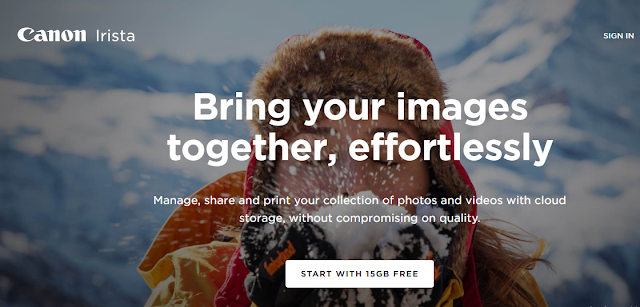 save your photos in Google Irista
