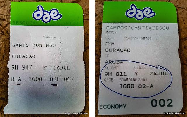 Passagem para Curaçao