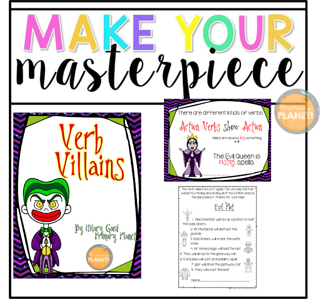 Verb worksheets, verb games, verb posters, verb printables
