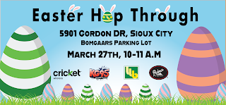 details on the iheartmedia Easter egg hop through event for March 27, 2021