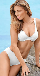 bikini con aros de tirantes anchos y cintura alta 2018
