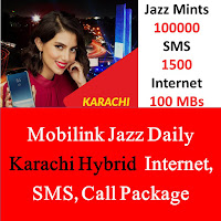 Jazz Package, Jazz Daily Package, Jazz Daily Call Package, Jazz Daily SMS Package, Jazz Daily Internet Package