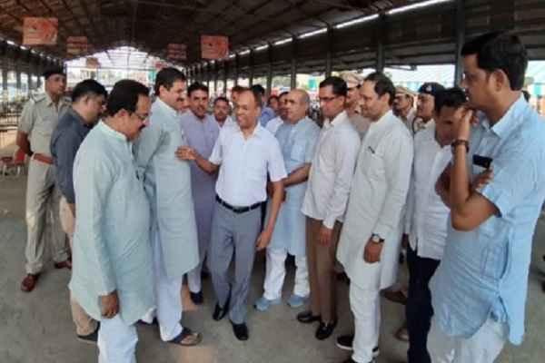 faridabad-cp-sanjay-kumar-bjp-leaders-monitor-cm-rally-sthal-ballabharh