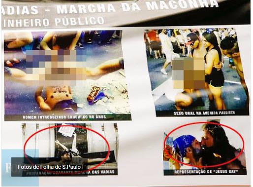 deputados manipularam painel de fotos da acusacao aos gays